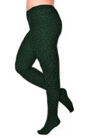 panty Small Leopard 50 denier groen
