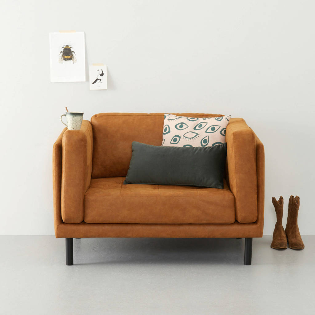 whkmp's own eco-leren loveseat Tampa, Cognac