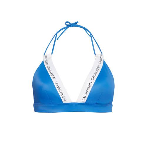 CALVIN KLEIN triangel bikinitop marine