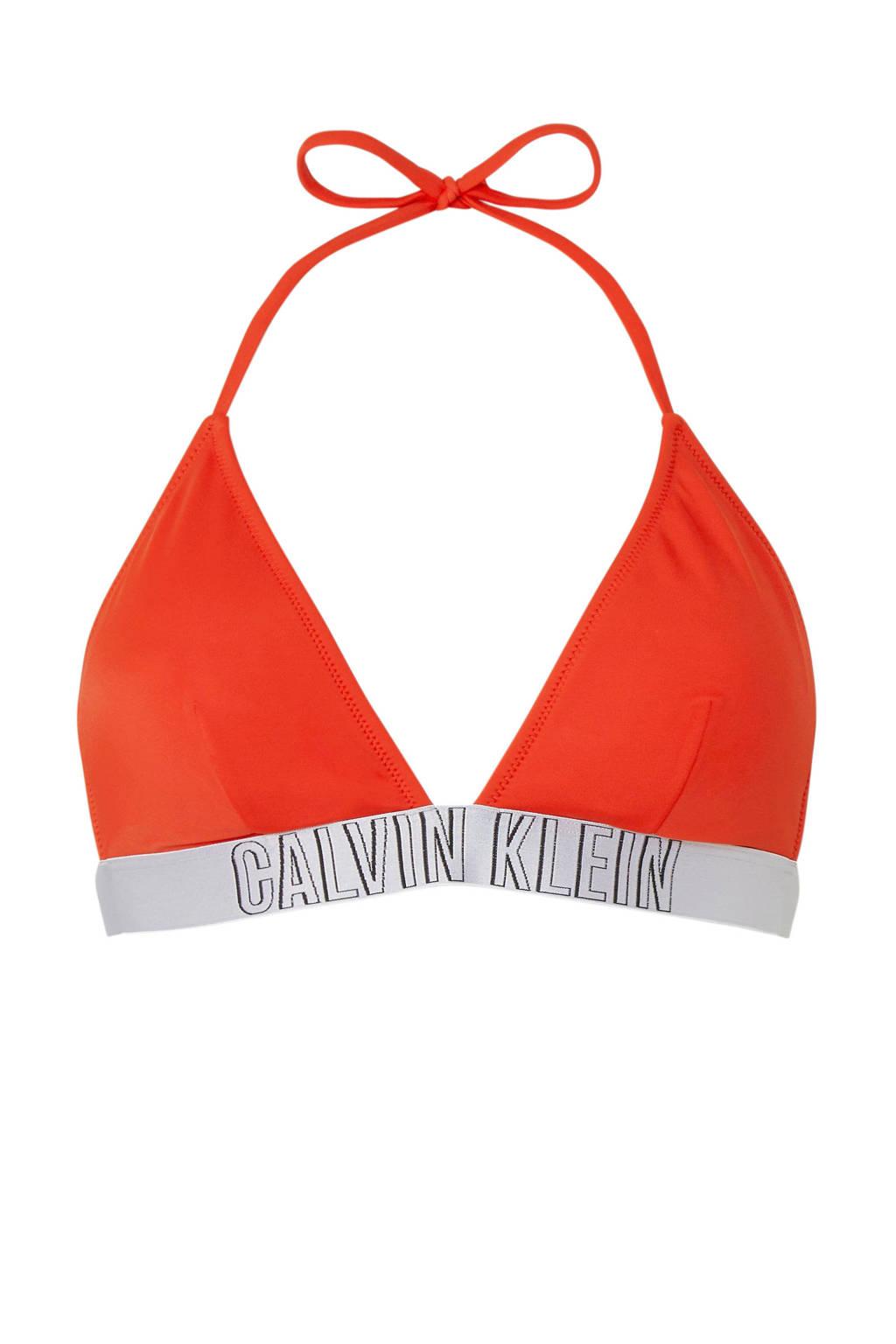 CALVIN KLEIN triangel bikinitop rood/zilvergijs, rood/zilvergrijs