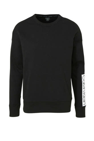 sweatshirt met logo zwart