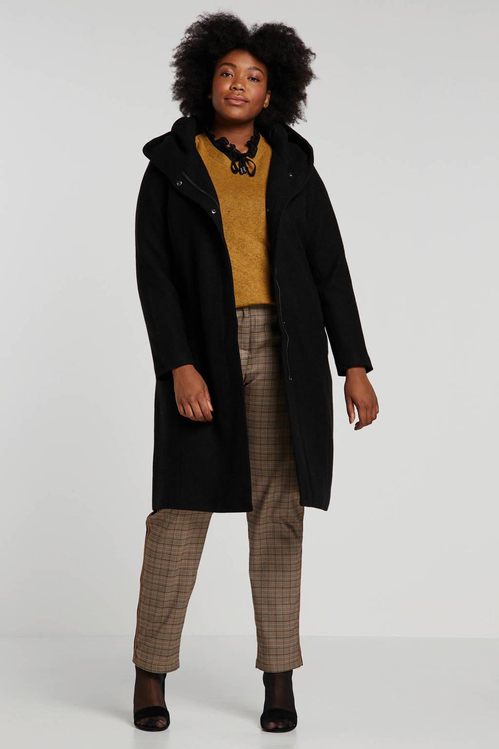 ONLY carmakoma coat zwart, Zwart