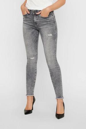 skinny jeans met slijtage NMLUCY light grey denim
