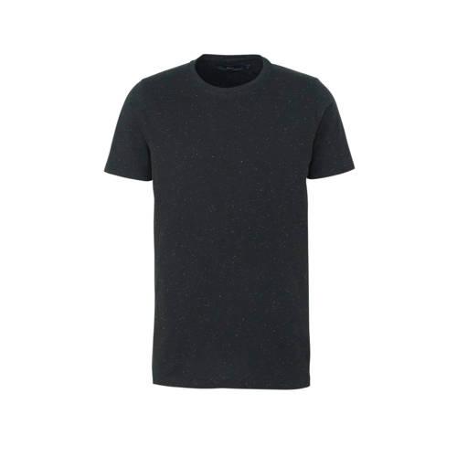 SUIT T-shirt met all over print zwart