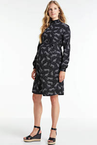 wehkamp zwangerschapsjurk met all over print zwart/wit, Zwart/wit