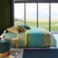 Beddinghouse katoenen dekbedovertrek lits jumeaux, Groen, Lits-jumeaux (240 cm breed)