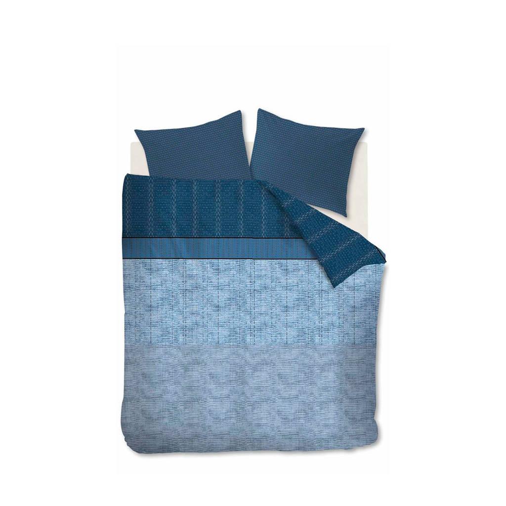 Beddinghouse katoensatijnen dekbedovertrek 2 persoons, 2 persoons (200 cm breed), Blauw