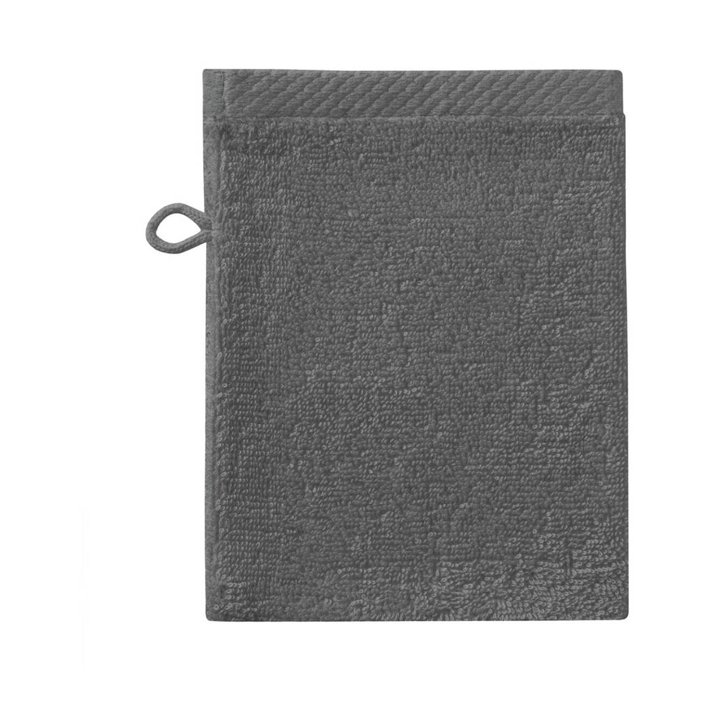 Seahorse washand Pure (set van 6) (21x16 cm) Donkergrijs