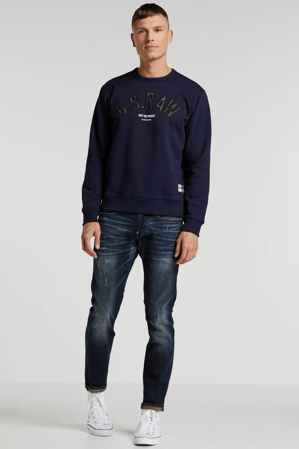 G-Star RAW skinny fit jeans Revend worn in wave destroyed, Worn in wave destroyed