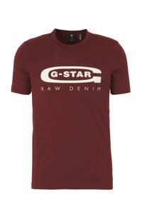 G-Star RAW T-shirt met logo port red, Port red