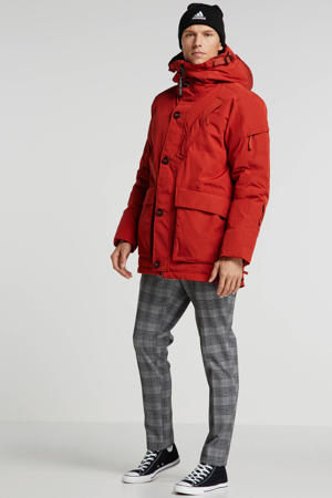 winterjas rusty red