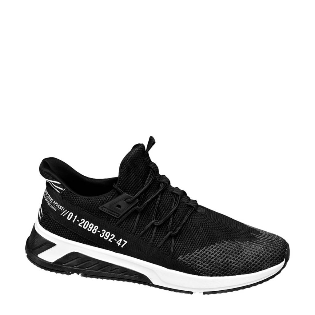 Venice   sneakers lichtgewicht zwart, Zwart/wit