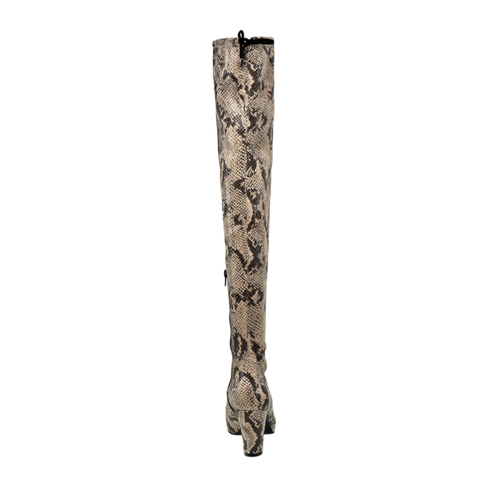 Graceland overknee laarzen panterprint | wehkamp