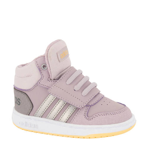 adidas Hoops Mid 2.0 sneakers lila-zilver