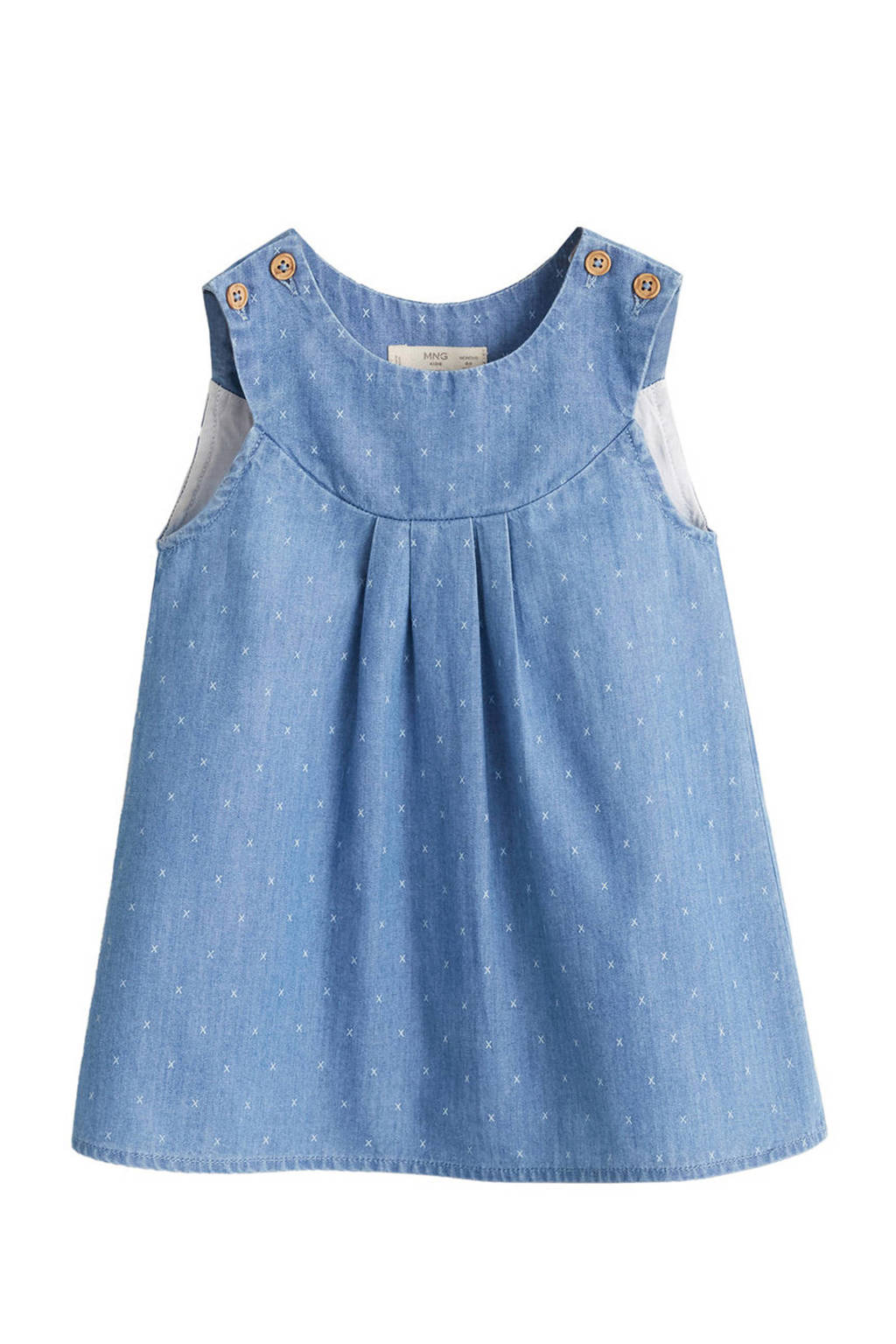 Mango Kids spijker overgooier met all over print, Light denim