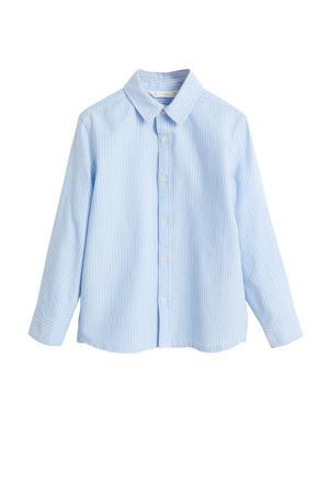 gestreept overhemd lichtblauw