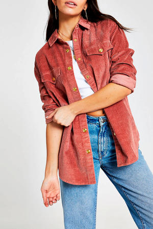 corduroy blouse roze