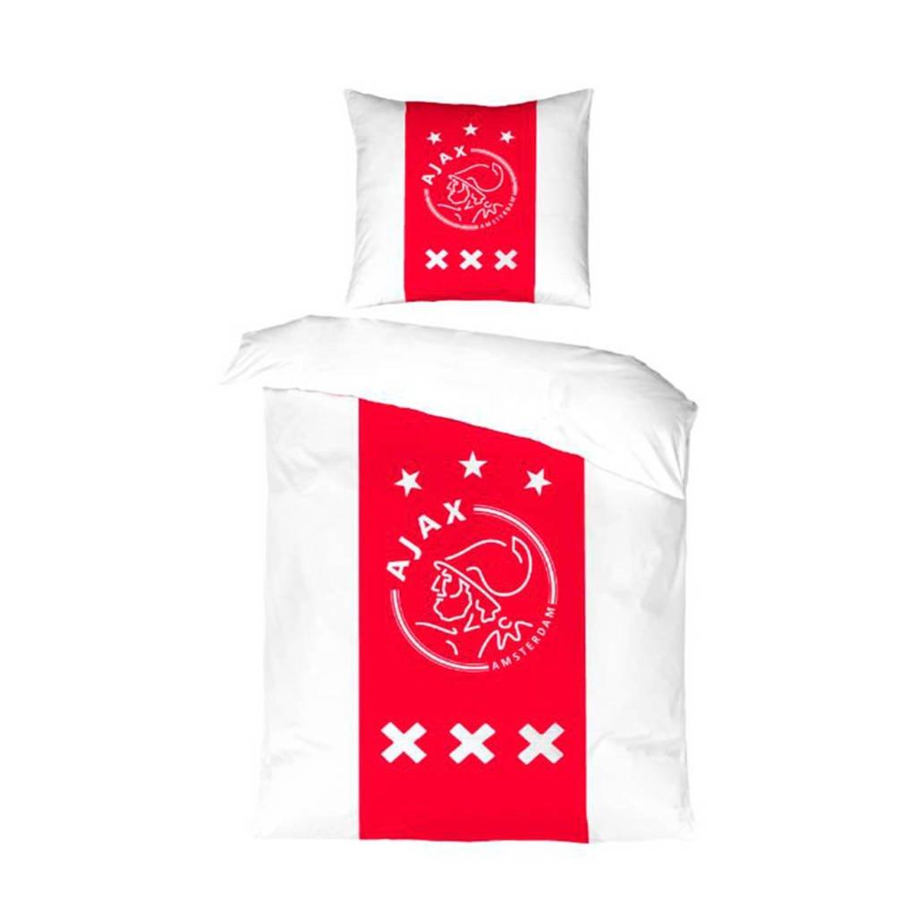 Ajax katoenen kinderdekbedovertrek, Rood/wit