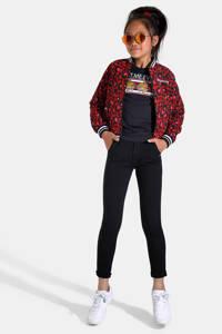 Jill & Mitch by Shoeby sportieve slim fit broek zwart, Zwart