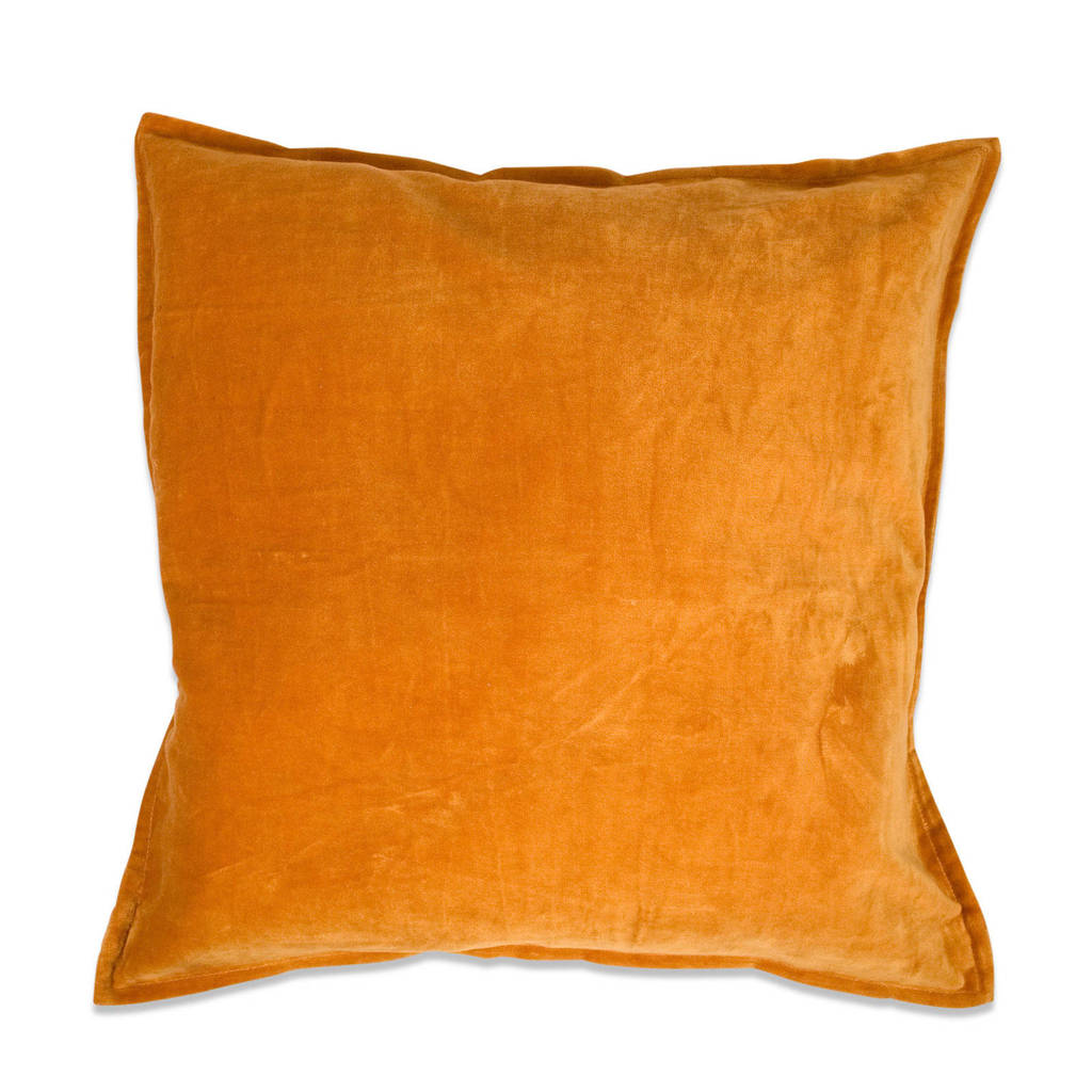 In the Mood collection sierkussenhoes Fluweel Flap  (50x50 cm), Amber