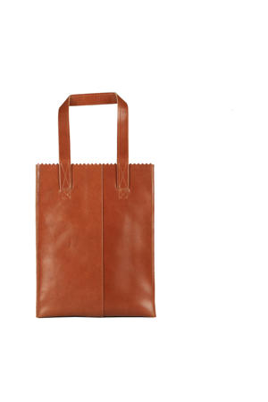 MY PAPER BAG  leren shopper cognac