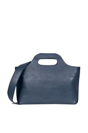 MY CARRY BAG  leren handtas blauw