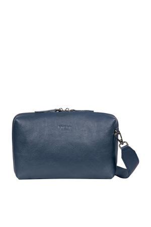 MY BOXY BAG  leren handtas SEVILLE blauw