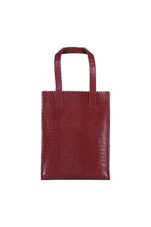 MY PAPER BAG  leren shopper donkerrood