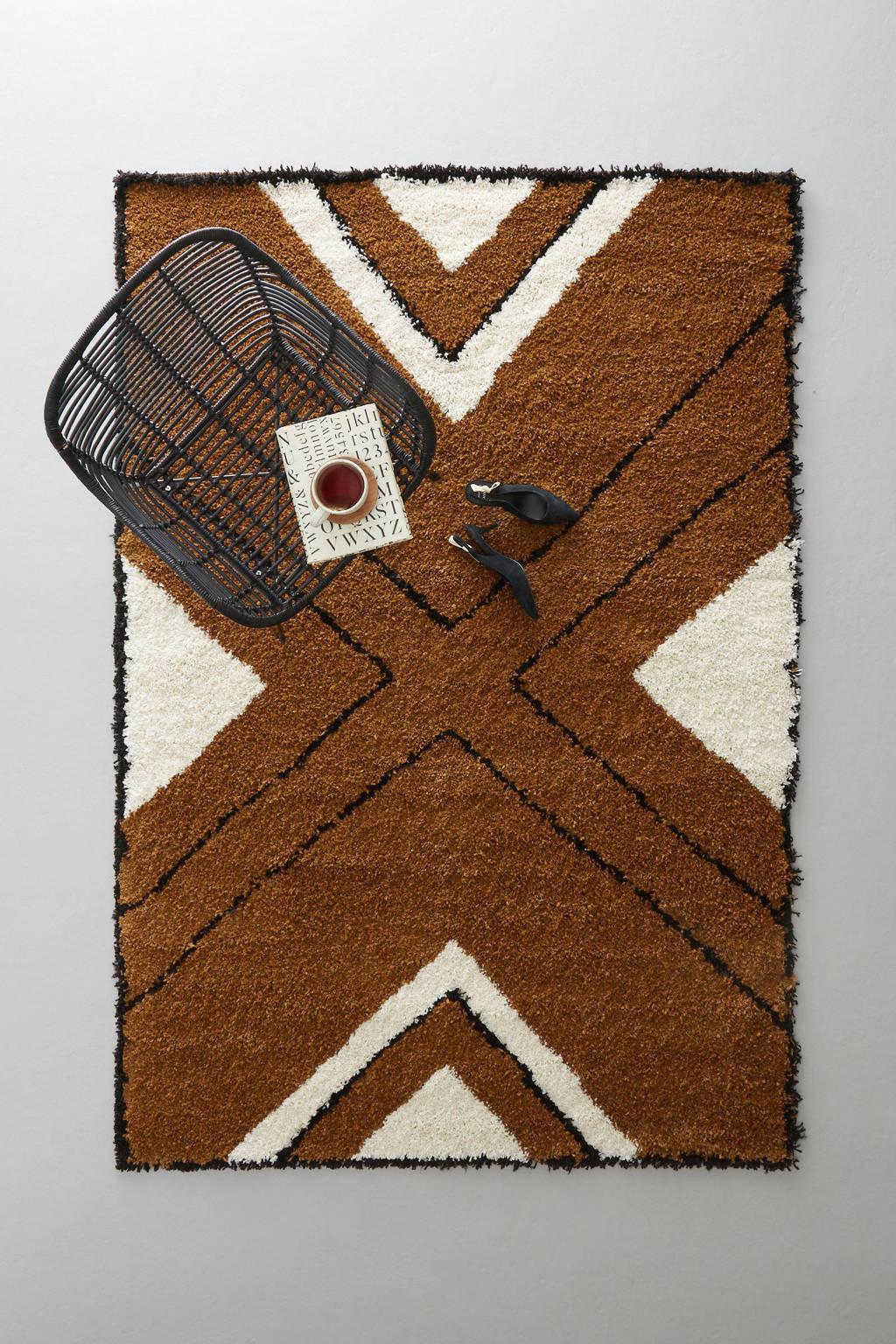 whkmp's own vloerkleed Royal Nomadic  (230x160 cm), Crème, Bruin, Zwart