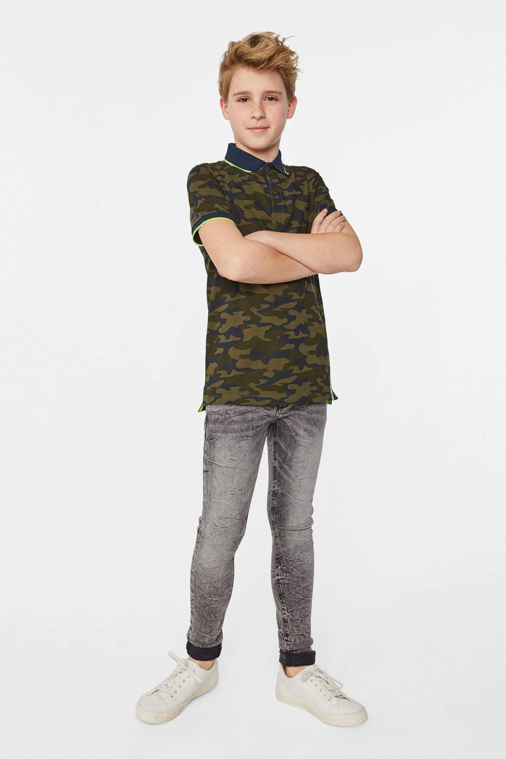 WE Fashion Blue Ridge super skinny jeans Mauro Salt grijs, Grijs