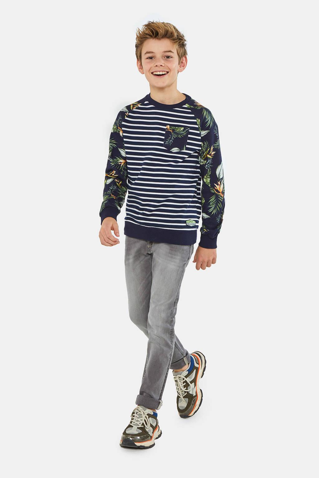 WE Fashion Blue Ridge skinny jeans met biologisch katoen grijs, Grijs