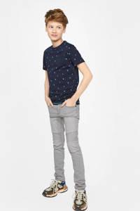 WE Fashion Blue Ridge super skinny jeans Justo Kyte Biker lichtgrijs, Lichtgrijs