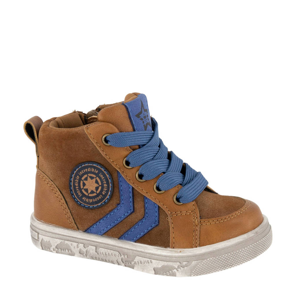Bobbi-Shoes   sneakers bruin, Bruin/blauw