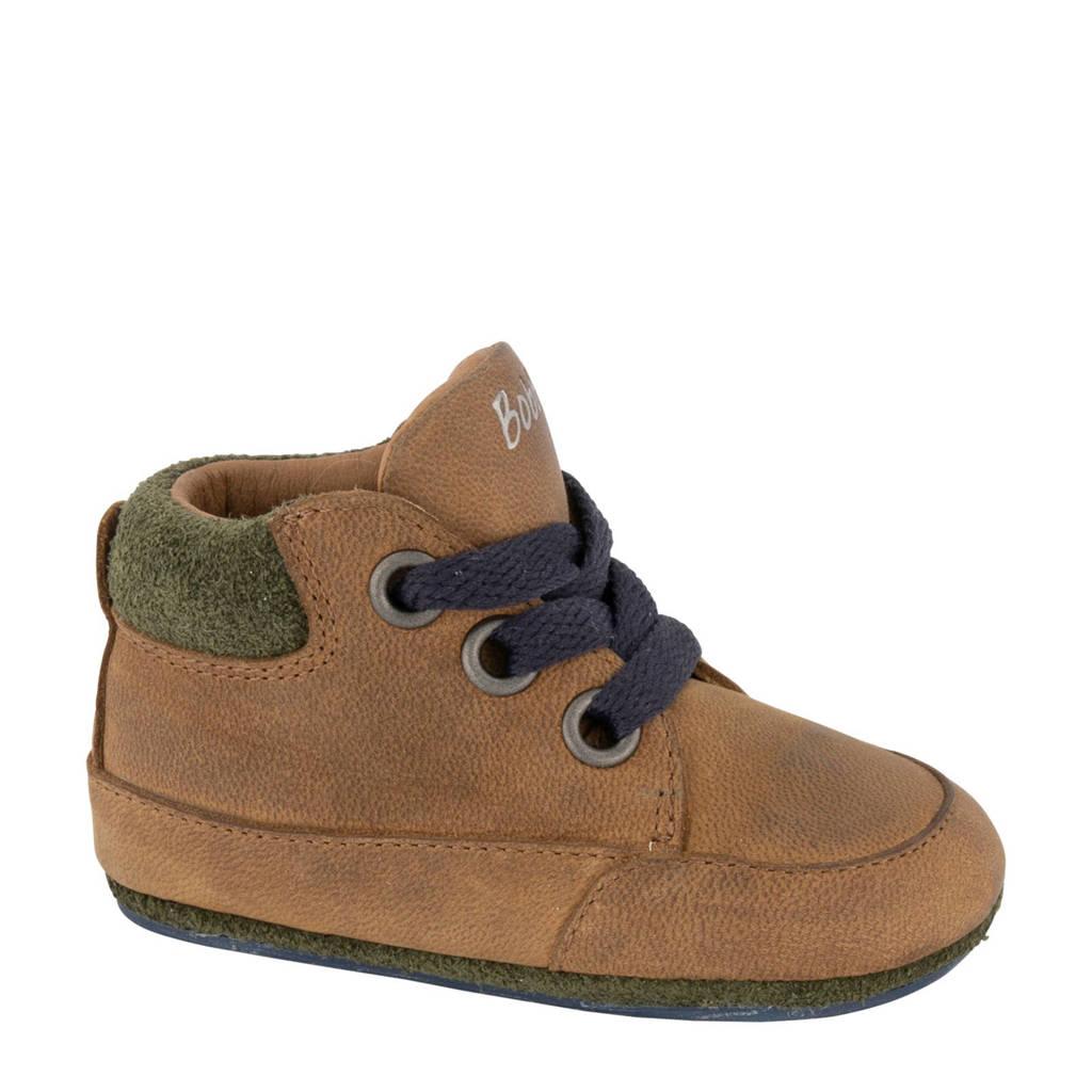 Bobbi-Shoes   leren babyschoenen bruin, Bruin