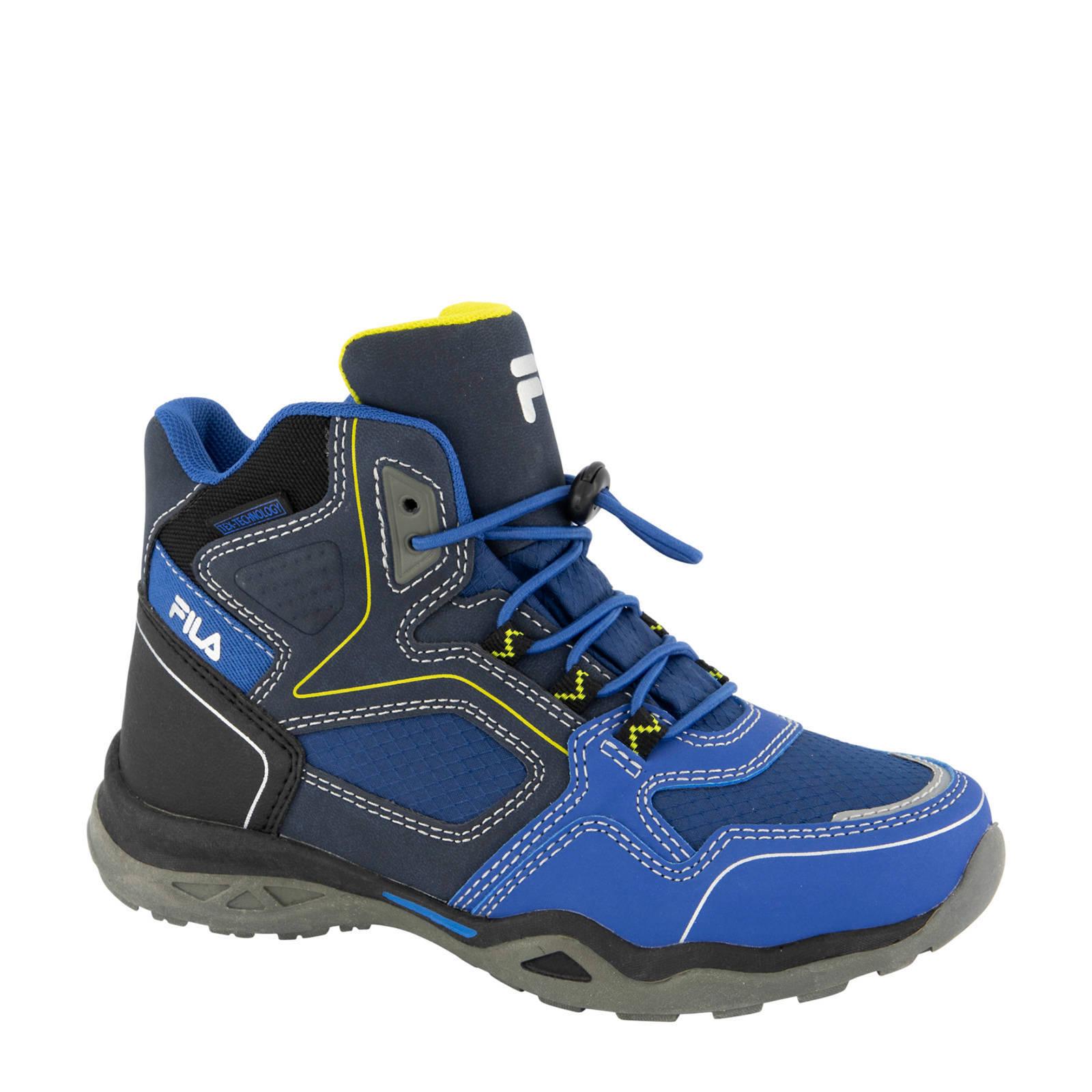 Blauwe mid cut boot elastische veter Fila maat 36