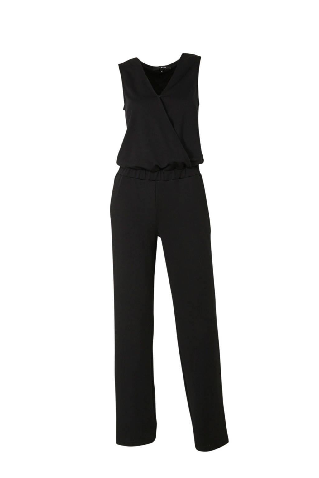 anytime jumpsuit zwart, Zwart