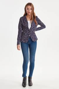 ICHI blazer met all over print paars/lila, Paars/lila