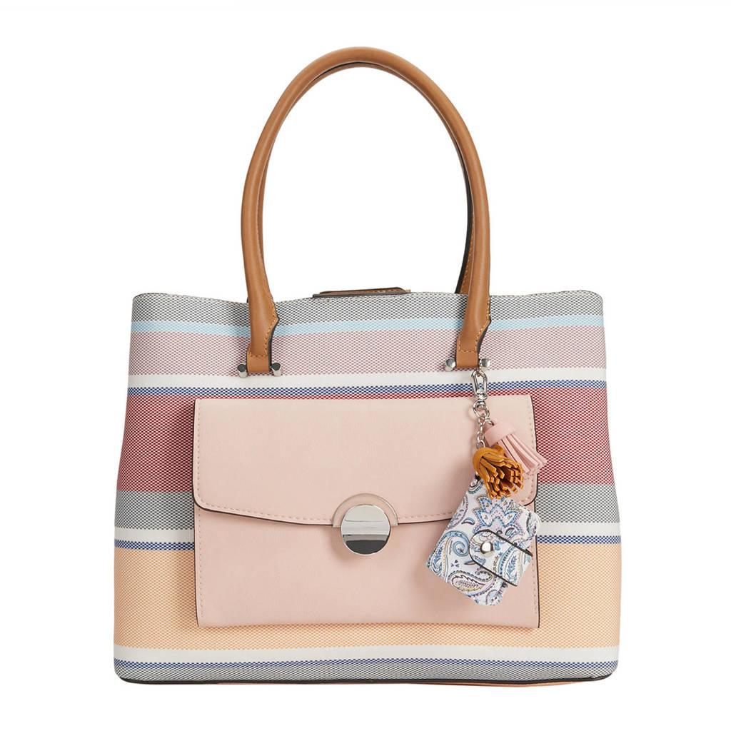 Parfois   handtas Lorna M roze, Roze/blauw/ecru