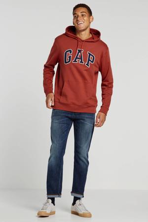 hoodie met logo en borduursels rood