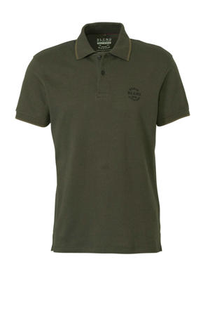 gemêleerde regular fit polo donkergroen