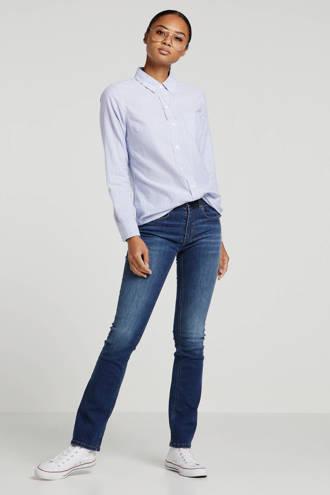 gestreepte blouse blauw/wit