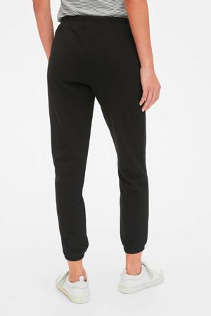 low waist loose fit joggingbroek zwart
