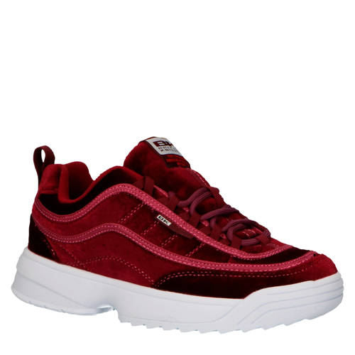 British Knights Ivy chunky sneakers velours rood
