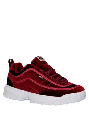 Ivy  chunky sneakers velours rood