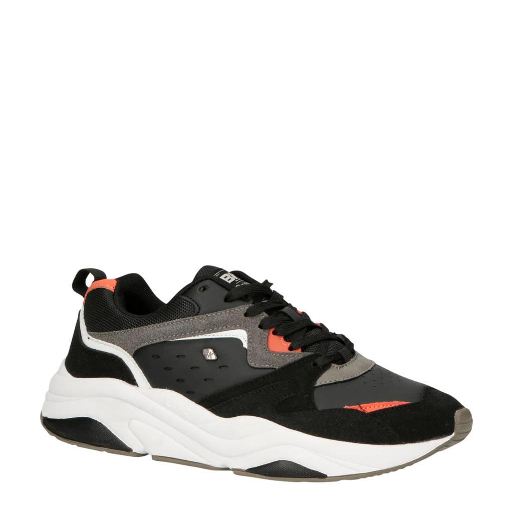 British Knights Chunky  sneakers zwart/grijs, Zwart/grijs/rood