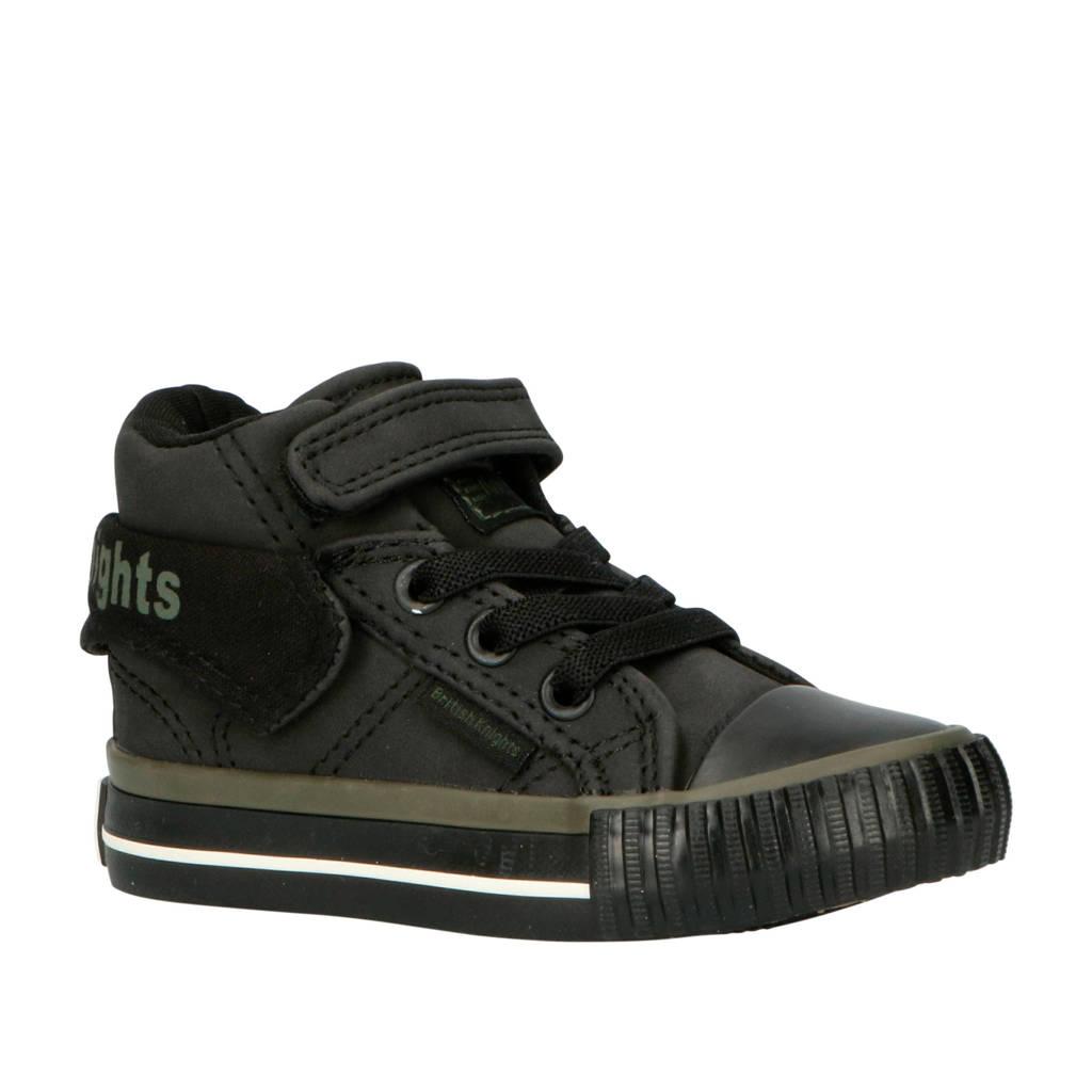 British Knights Roco  halfhoge sneakers zwart, Zwart