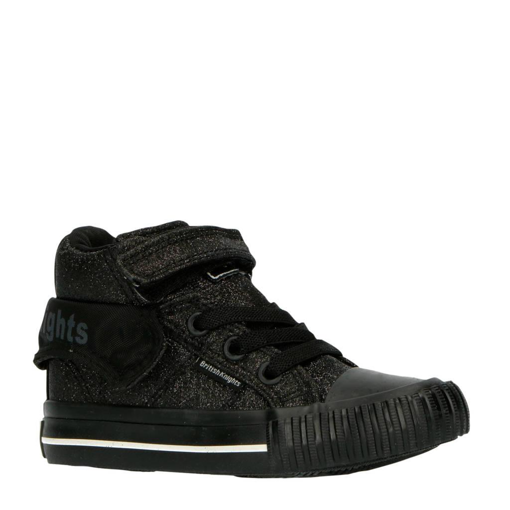 British Knights Roco  halfhoge sneakers zwart/glitters, Zwart