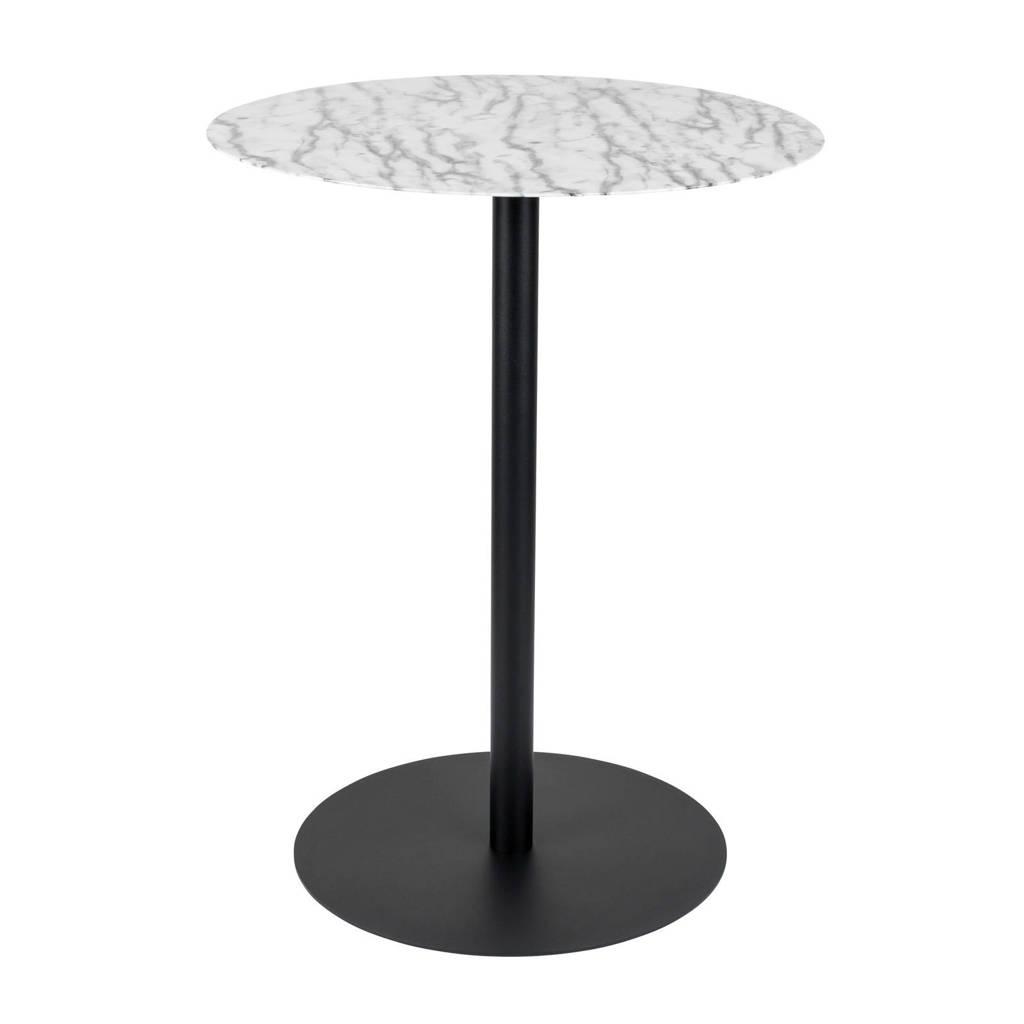 Zuiver ronde bistro tafel Snow Ø 57, Wit/zwart