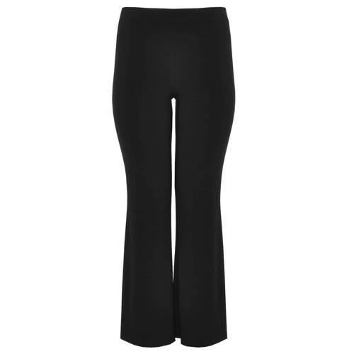 Yoek bootcut pantalon zwart