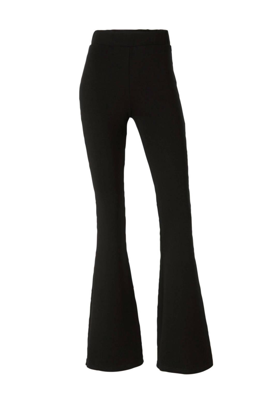 NA-KD flared legging zwart, Zwart
